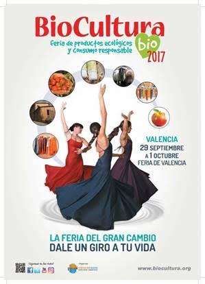 BioCultura Valencia 2017, del 29 de septiembre al 1 de octubre próximo
