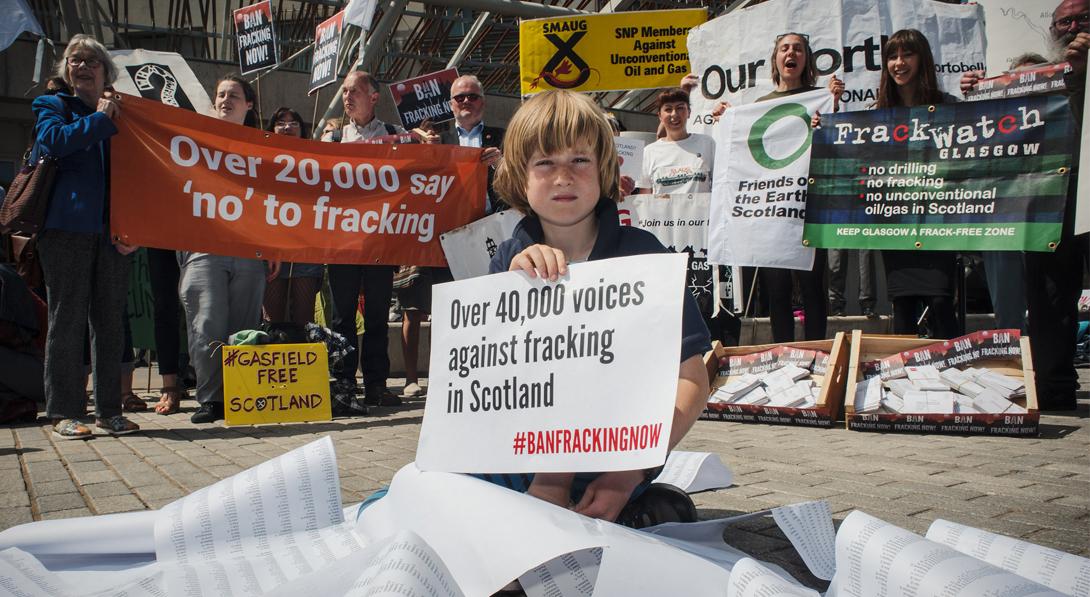 Amigos de la Tierra celebra que Escocia se sume a la lista de países que prohíben el fracking