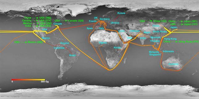 Estados Unidos, China, India y Brasil producen el 50% de las emisiones de nitrógeno a nivel mundial
