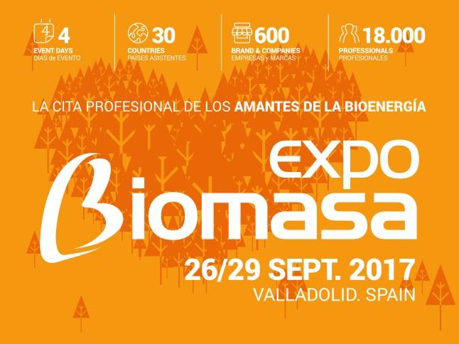 Expobiomasa 2017. La Feria profesional especializada en BIOMASA del Sur de Europa