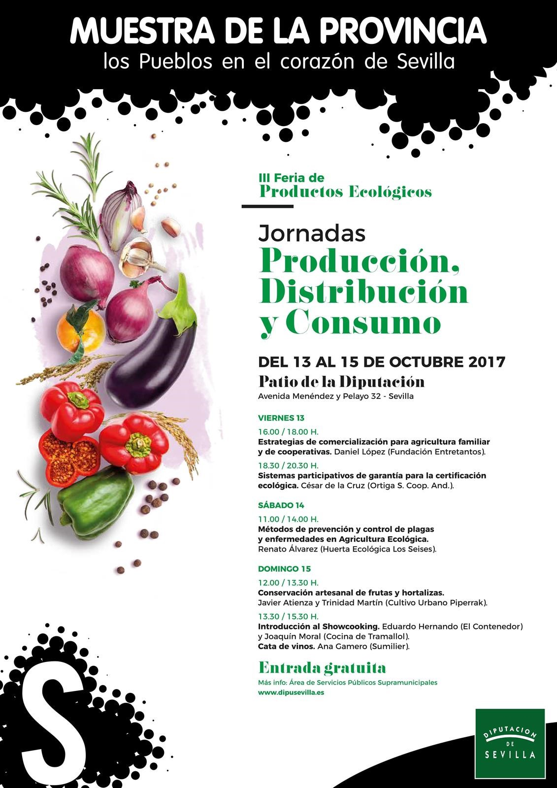 La Diputación de Sevilla celebra unas jornadas de distribución y consumo de productos ecológicos