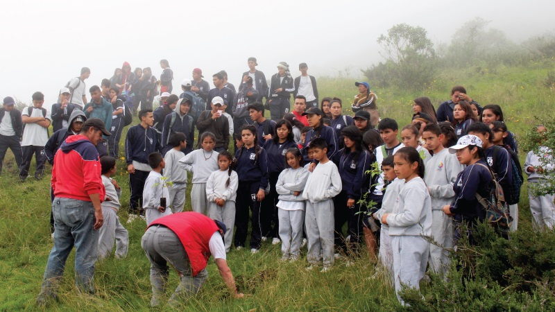 Ecuador. Jóvenes celebraron el 39 aniversario de la Reserva Geobotánica Pululahua