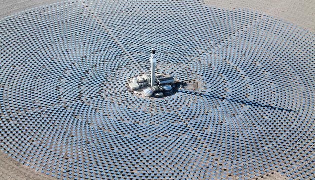 Graves problemas para ejecutar la planta termosolar de carácter experimental concedida a la empresa estadounidense Solar Reserve