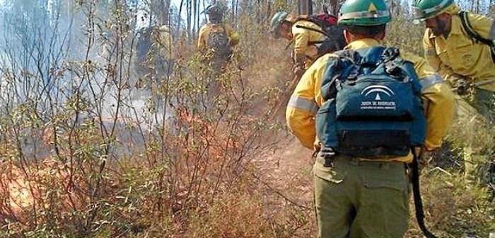 Extinguido el incendio forestal declarado en Villablanca (Huelva)