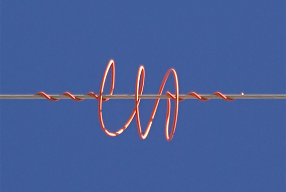 Sistema anticolisión de aves en una línea eléctrica