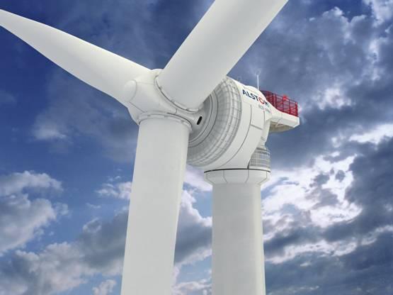 Buñuel (Navarra), Alstom fabrica las turbinas para un parque eólico en Japón