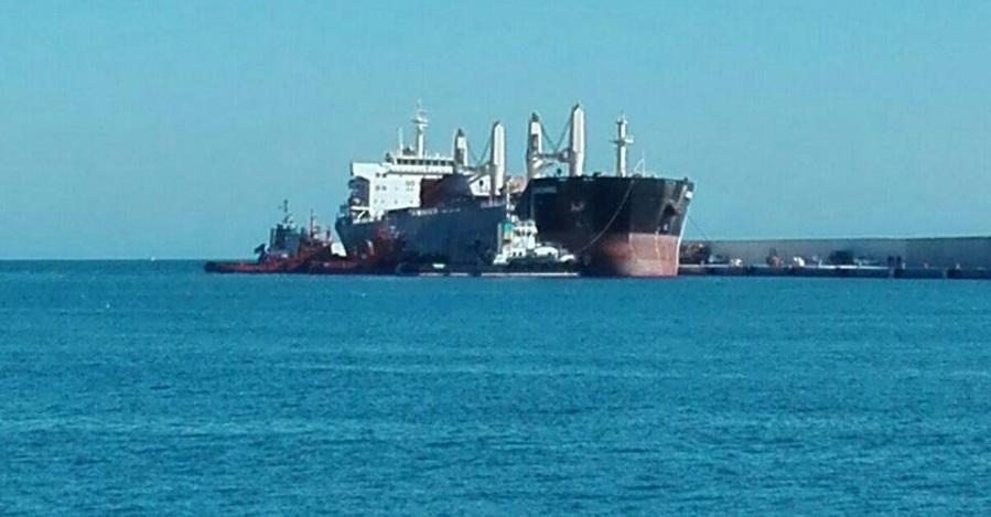 Dudas de la carga del buque Cheshire tras su combustión
