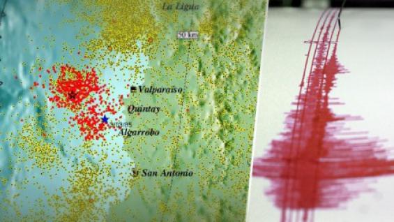 Chile. Valaparaíso tuvo 641 sismos en 8 días