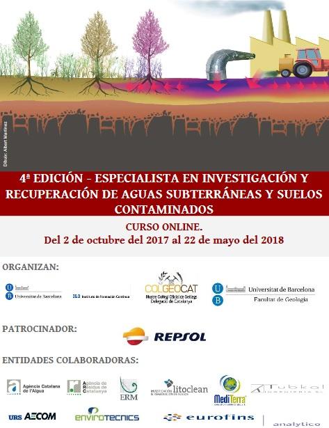 4ª Edición - Especialista en investigación y recuperación de aguas subterráneas y suelos contaminados