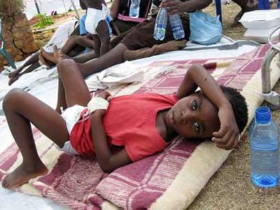 Parar la epidemia del coléra en Haiti con agua de mar
