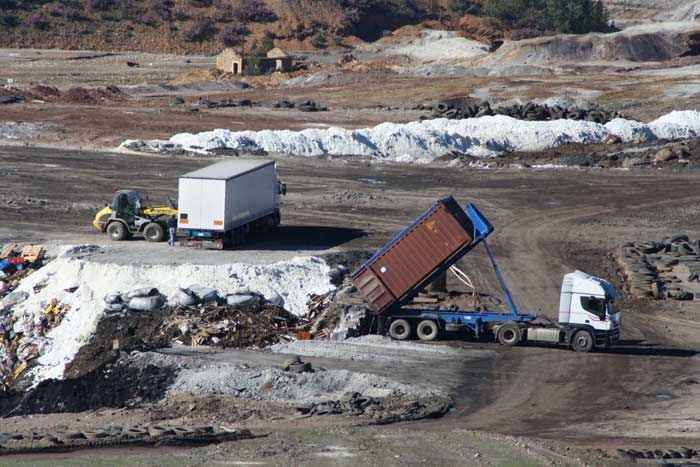 Greenpeace obtiene pruebas que demuestran que los residuos italianos llevados a Nerva son peligrosos