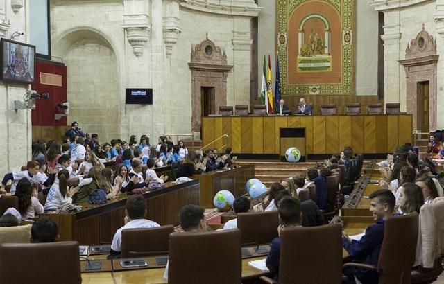 Andalucía. El Pleno infantil del Parlamento reclama medidas que protejan el medio ambiente