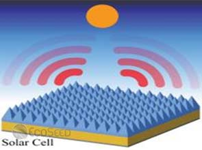 Patterned silica layer allows solar cell to cool itself