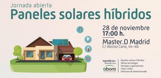Jornadas paneles solares híbridos ITMD-ABORA-SOLAR