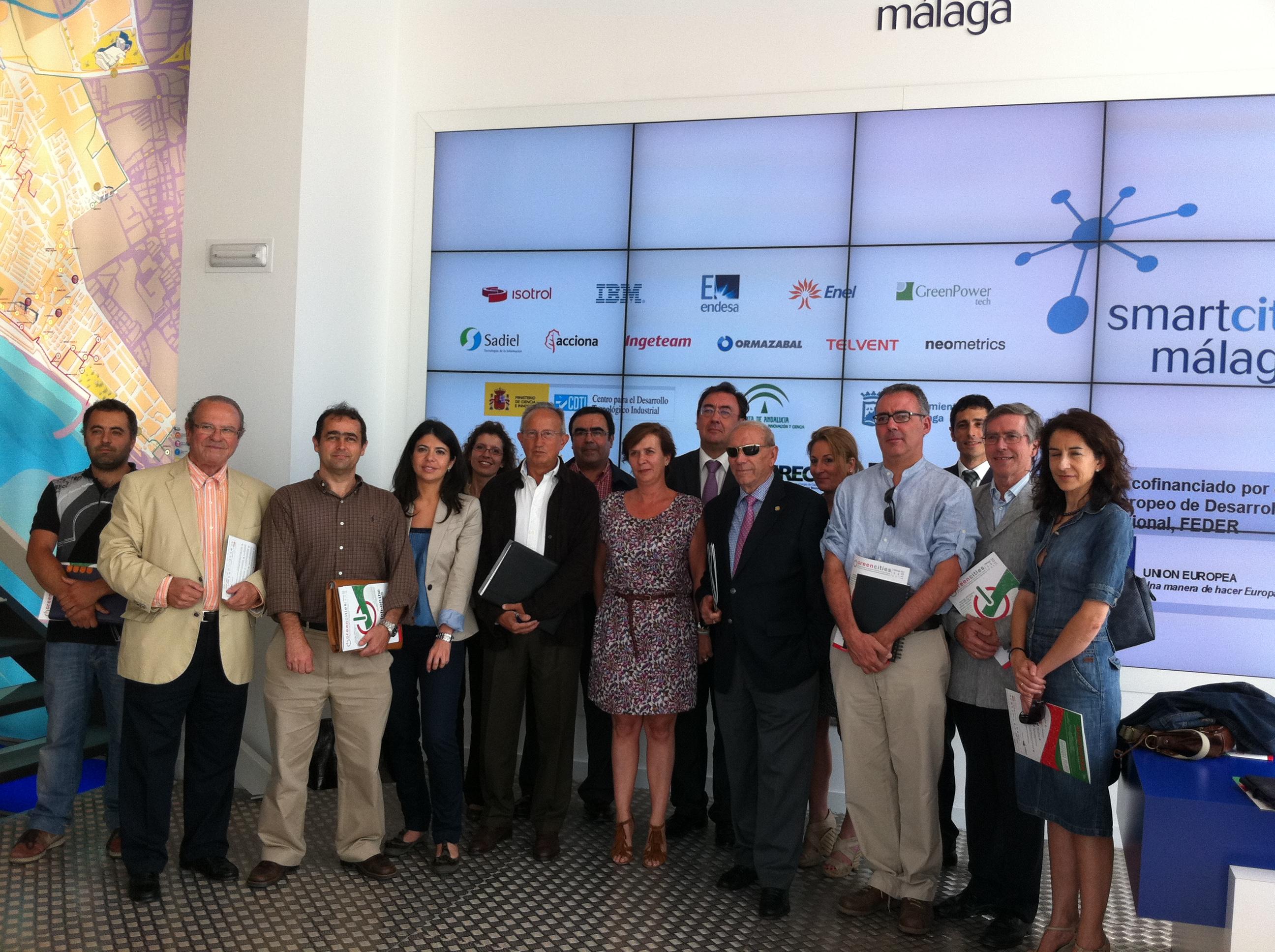 El comité organizador de 'Greencities' se reúne y visita el proyecto Smartcity