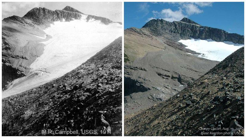Vea el 'antes' y después' de algunos glaciares