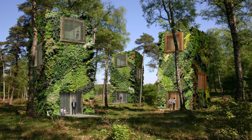 oas1s proposes clusters of tree-bound houses that double as urban parks