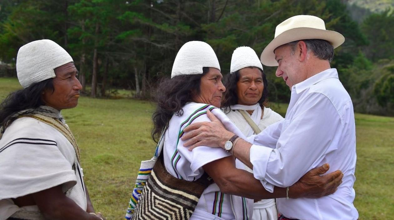 El presidente de Colombia pide 'paz con la naturaleza'