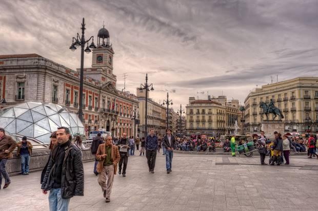 Un cedro y 23 abetos en la Puerta del Sol de Madrid