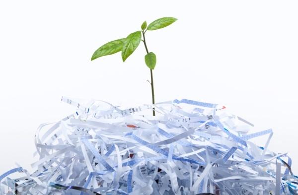 El reciclaje de papel se 'dispara'