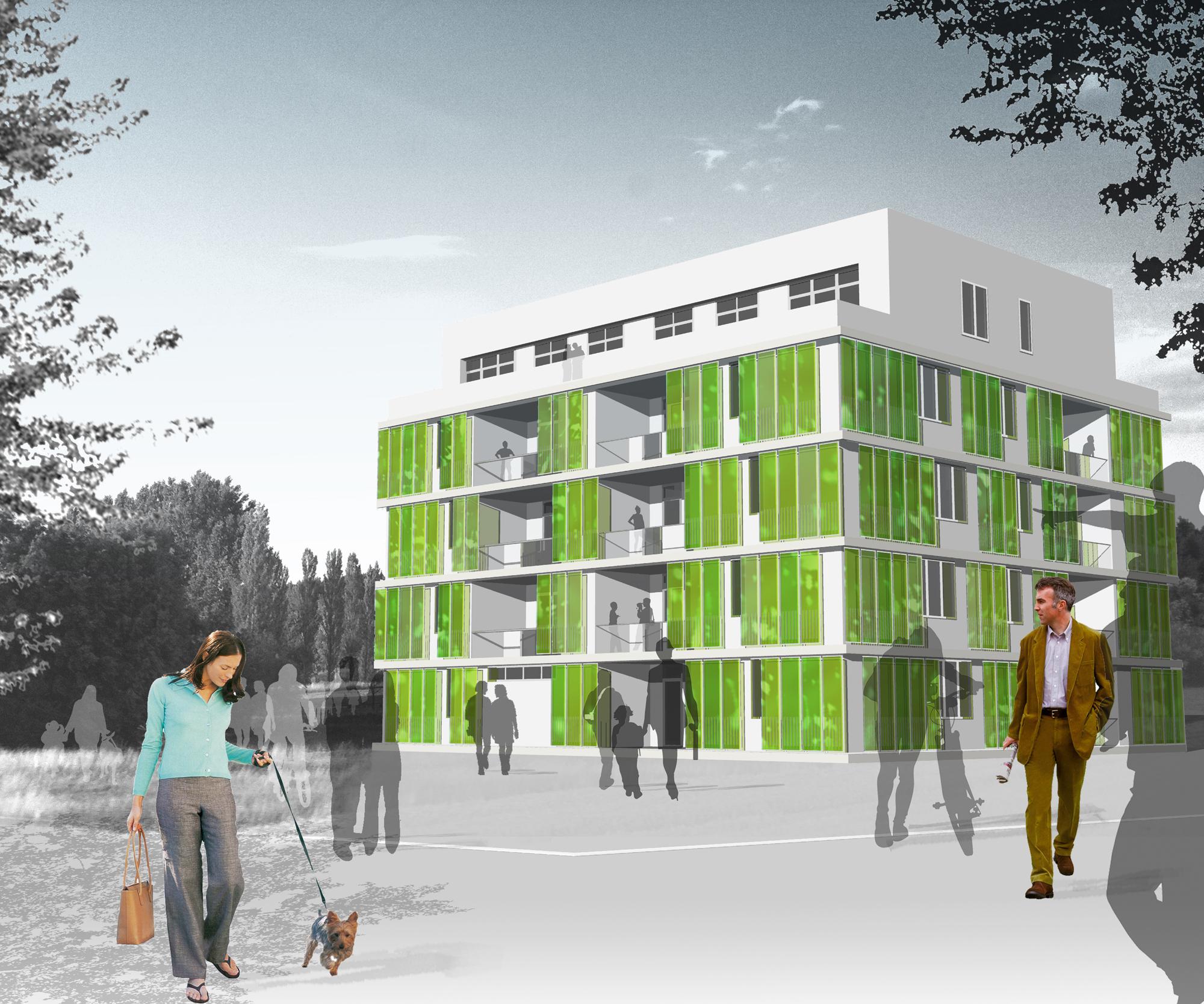 Micro algas: una novedosa solución para fachadas verdes