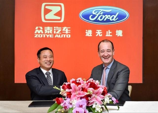 Ford y la china Zotye invertirán 650 millones en la producción y venta de vehículos eléctricos