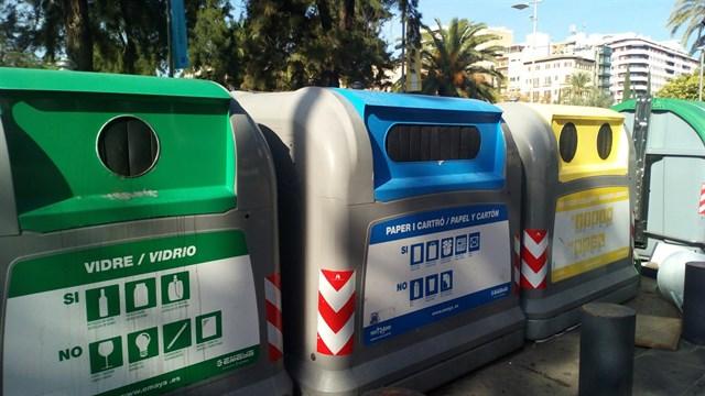 La recogida selectiva aumenta en Palma de Mallorca