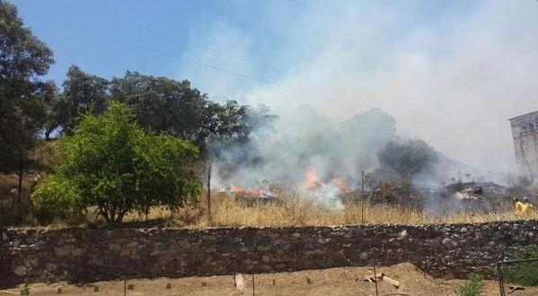 Extinguido el incendio declarado en Almadén de la Plata (Sevilla)