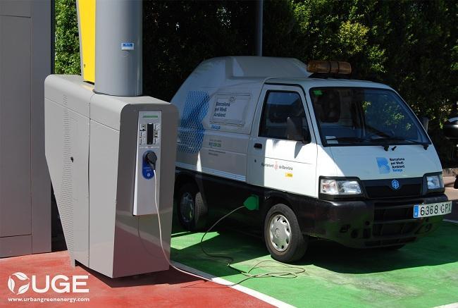 Primera estación eólica de recarga de coches eléctricos