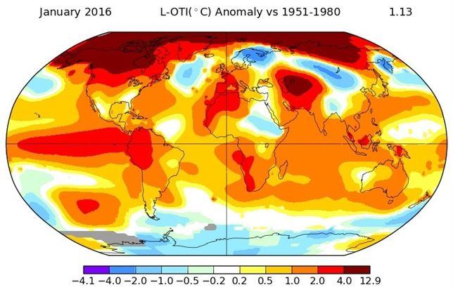 Enero de 2016 el más caluroso, el calentamiento global se hace notar