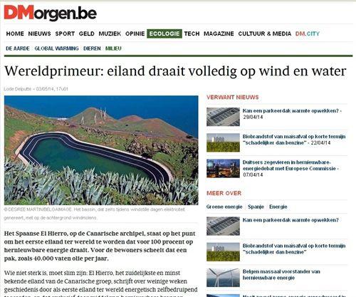 La Central Hidroeólica de El Hierro 'referente' internacional