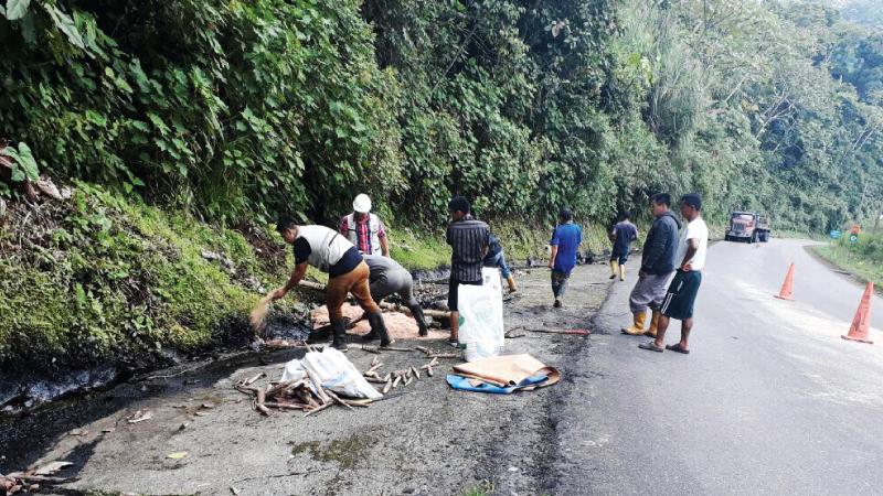 Ecuador: MAE actúa de forma inmediata ante derrame de hidrocarburo en Napo