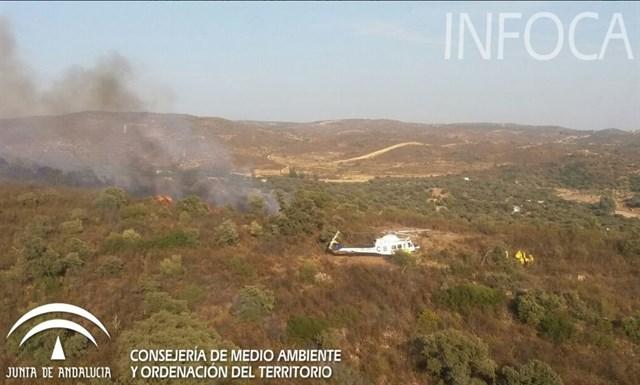 Declarado un incendio forestal en El Ronquillo (Sevilla)