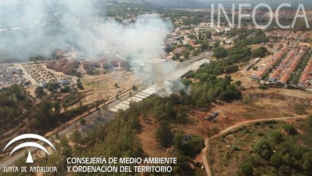 Declarado un incendio forestal en Minas de Riotinto (Huelva)