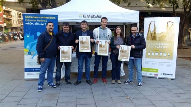 El Ayuntamiento de Palma presenta una campaña para reducir el uso de las bolsas de plástico