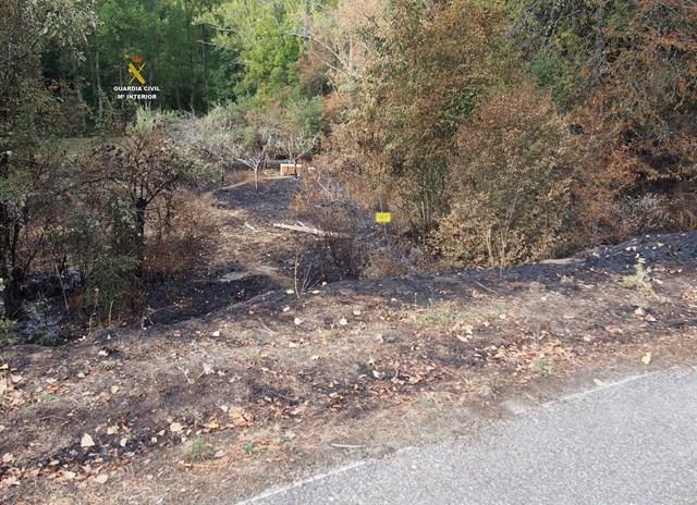 Dos investigados por la autoría de los incendios en Olleros de Alba y Villalfeide, en la provincia de León