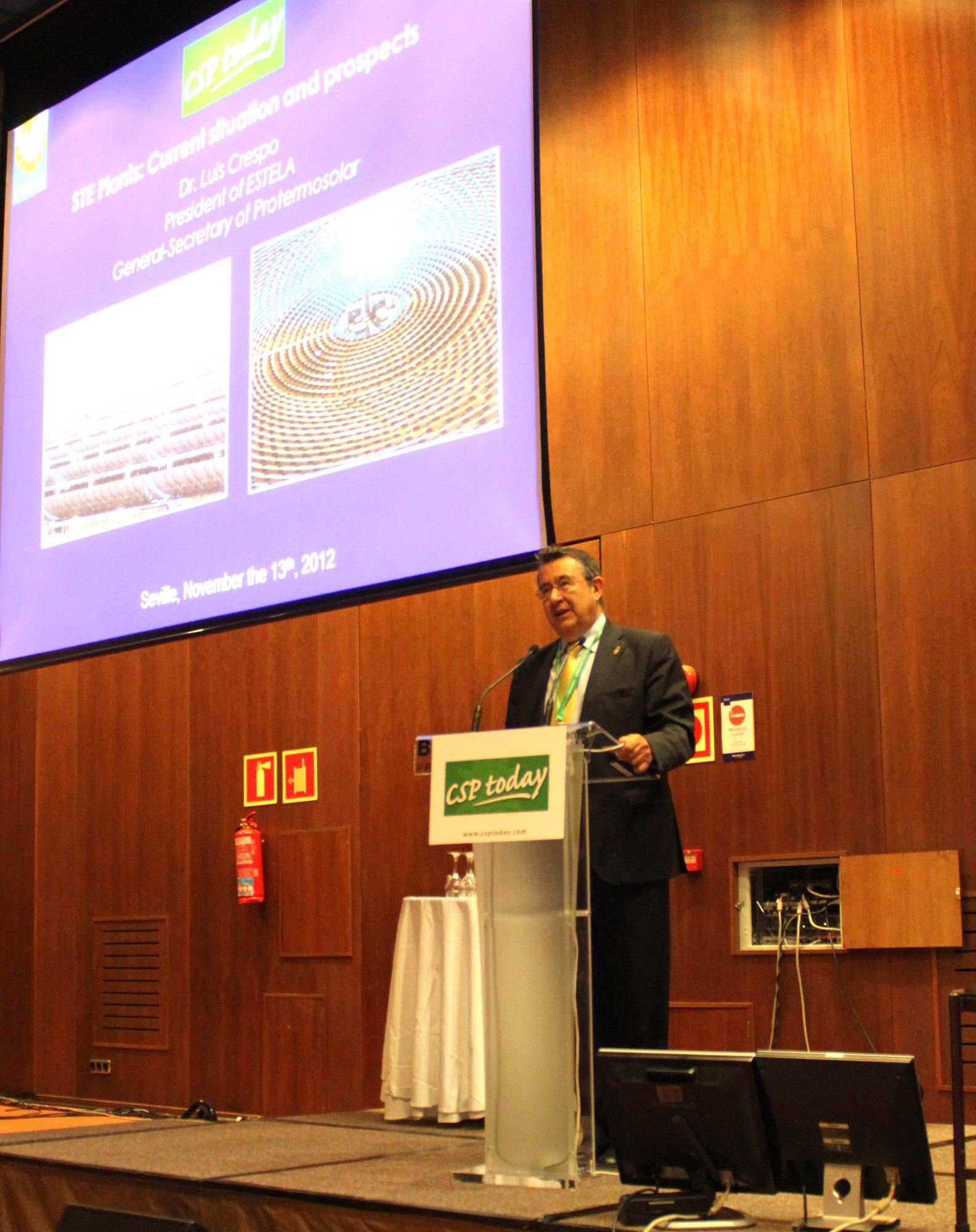 VI Cumbre Internacional del sector termosolar en Sevilla. Premio especial de csp today a protermosolar