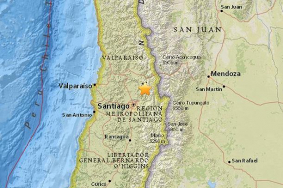 Chile: Un sismo de 4.9 grados sacudió a Santiago y Valparaíso