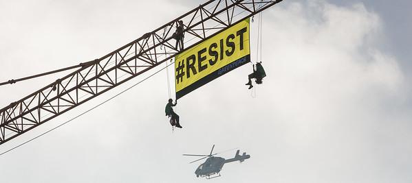"""Greenpeace hace un llamamiento a """"resistir"""" ante la visita de Donald Trump a Bruselas"""