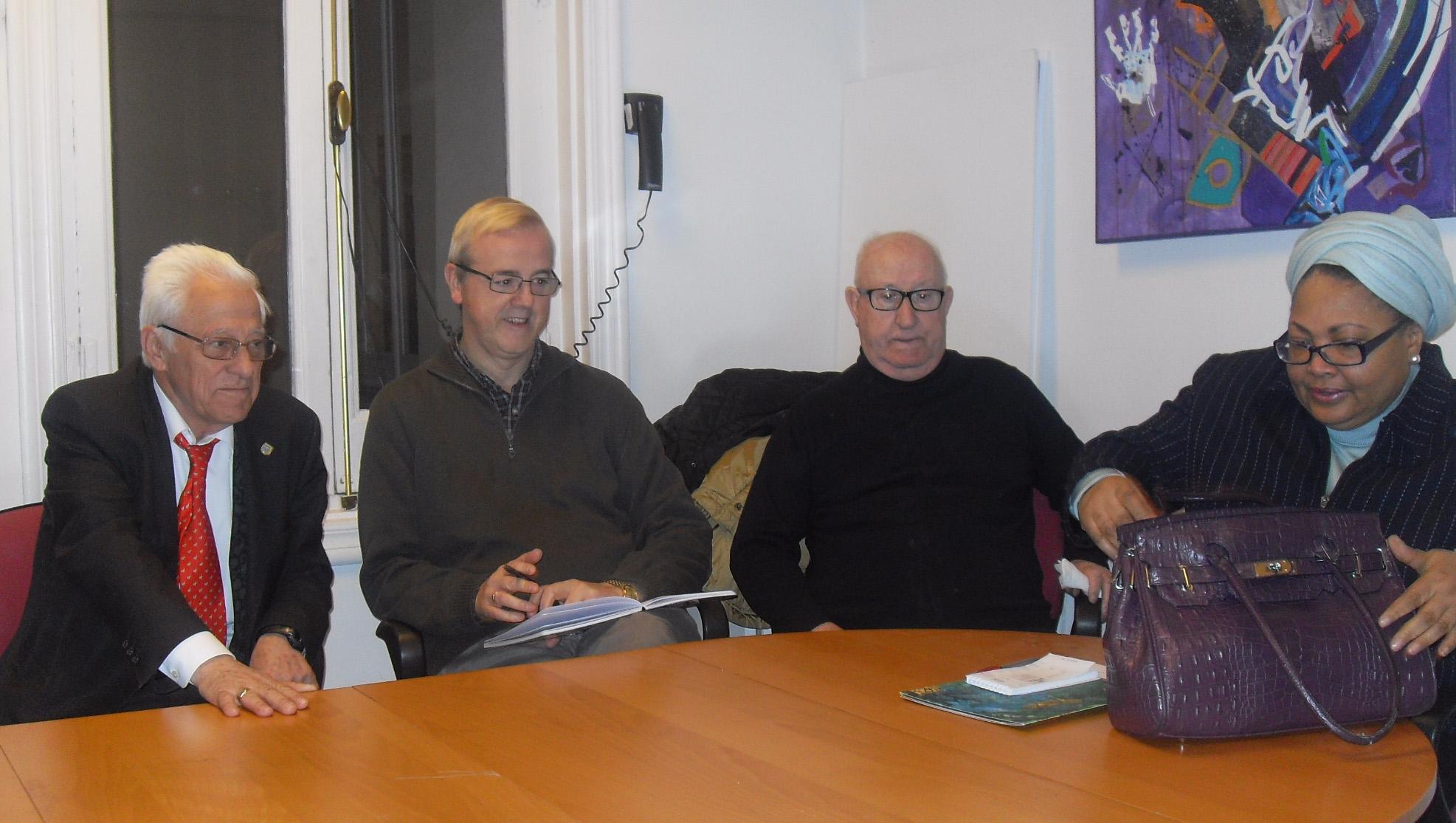 OMDIMAR se reúne con la embajadora de Haití en Madrid y el padre Ángel de MensajeroS de la Paz, para presentar y trasladar el proyecto de Oasis