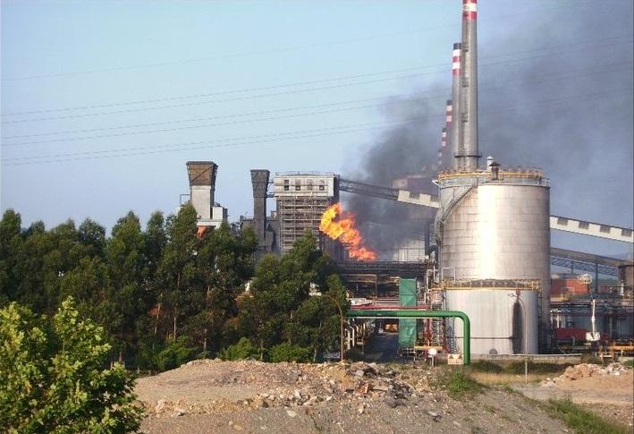 Asturias. Ayer se disparo la contaminación en Avilés que se olía
