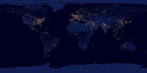 Fotografías de la NASA. La contaminación lumínica un problema global para la Tierra
