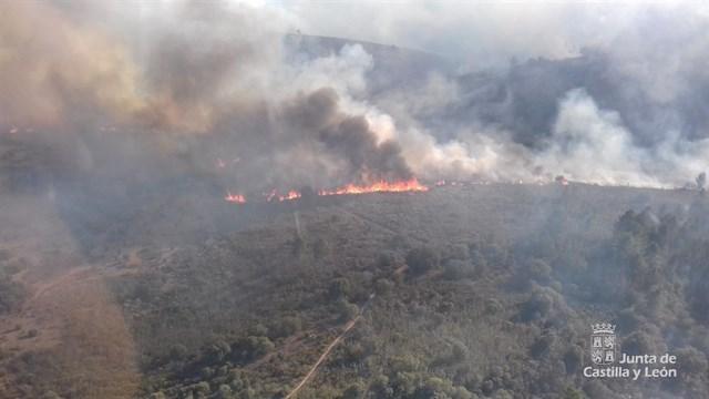 Desciende a nivel 0 el fuego de Trabazos (Zamora)