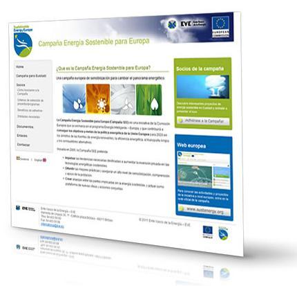 Nueva web de la campaña Energía Sostenible para Europa
