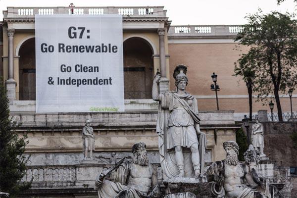 Exigen al G7 que apueste por las energías renovables