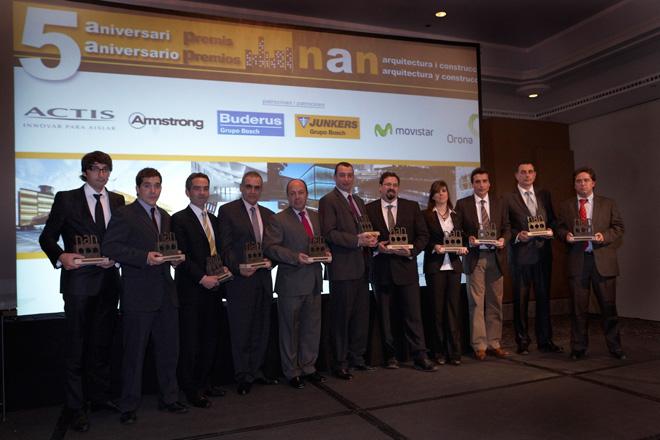 Favemanc obtiene el galardón a los mejores materiales, categoría de pavimentos y fachadas, en los V Premios NAN