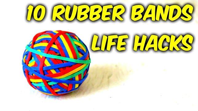 10 simples trucos para darle un útil uso a las gomas elásticas