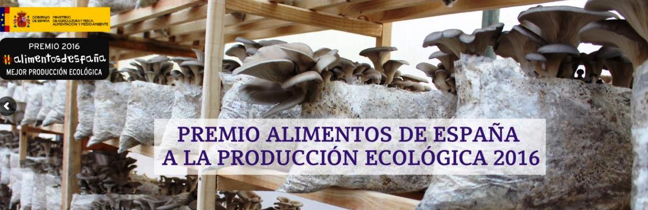 """La empresa pontenvedresa """"Hifas da Terra"""" recibe el premio """"Alimentos de España 2016"""" a la producción ecológica"""