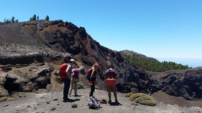 El volcán Cumbre Vieja emite 800 toneladas de CO2 al día