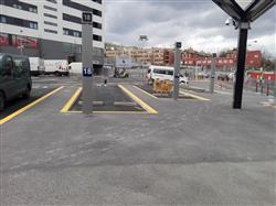 Bilbao emplea hormigón siderúrgico fabricado con escorias de acería como nuevo pavimento de la estación provisional de autobuses